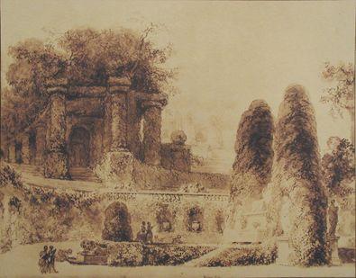 Jean-Honore Fragonard Brunnen im Garten der Villa d Este