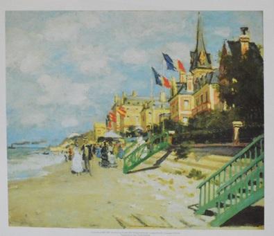 Claude Monet Der Strand von Trouville, 1870