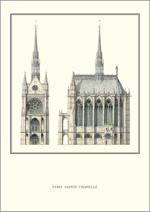 unbekannter Kuenstler Paris, Sainte-Chapelle