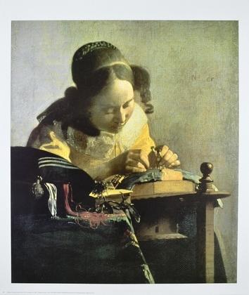 Jan Vermeer Die Spitzenkloepplerin  ca  1665