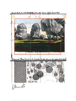 Christo Wrapped Trees Nr.IV
