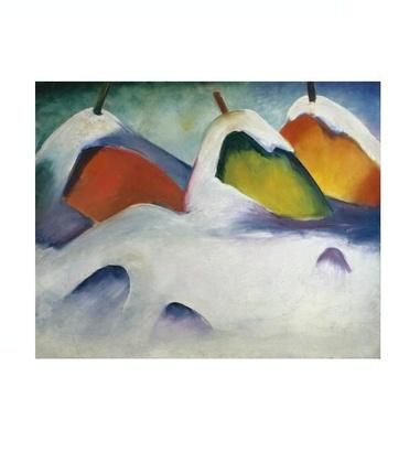 Franz Marc Heuhocken im Schnee