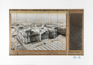 Christo Reichstag X, handsigniert