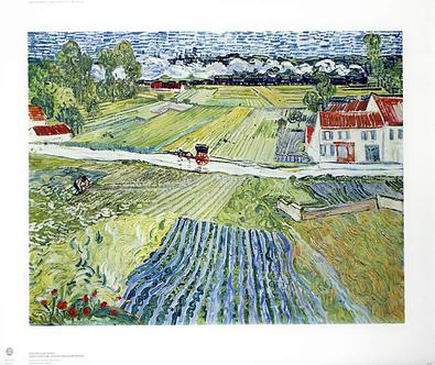 Vincent van Gogh Landschaft bei Auvers nach dem Regen