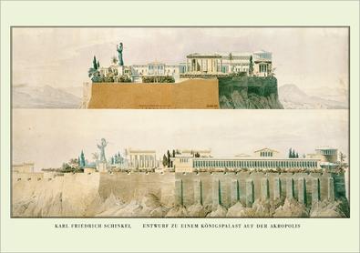 Karl Friedrich Schinkel Entwurf zu einem Koenigspalast auf der Akropolis