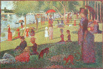 Georges Seurat Studie fuer La Grande Jatte