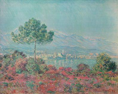 Claude Monet Pinien und Felsen (Felsenlandsch ueber Meeresbucht)