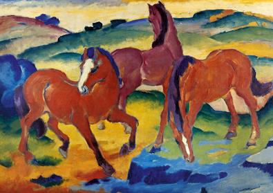 Franz Marc Die roten Pferde