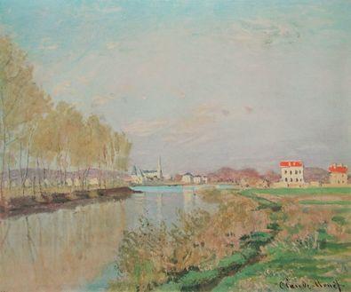 Claude Monet Die Seine bei Argenteuil mit Pappelreihe