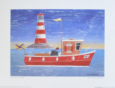 Martin Wiscombe Boat and Lighthouse