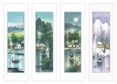 Jian Liang Gu China Jahreszeiten Set (4Blatt)