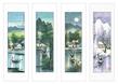 Gu jian liang china jahreszeiten set 4blatt medium