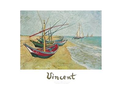 Vincent van Gogh Fischerboote am Strand von Saintes-Maries