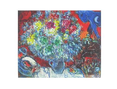 Marc Chagall Blumenstrauss und Verliebte