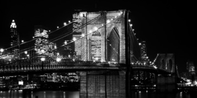 Jet Love Brooklyn Bridge at Night 1982