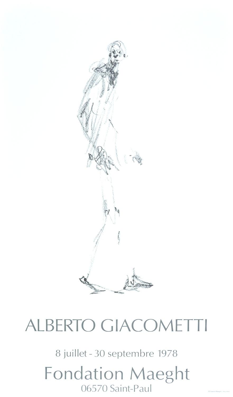Alberto Giacometti-Dessin I-1978 Poster