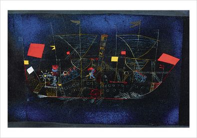 paul klee abenteuerschiff poster kunstdruck bei. Black Bedroom Furniture Sets. Home Design Ideas