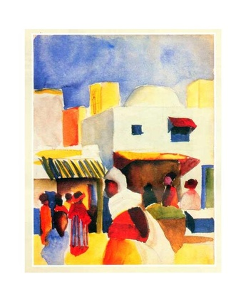 August Macke Markt in Tunis