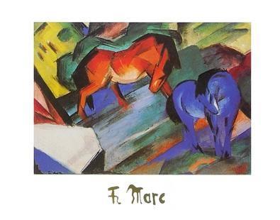 Franz Marc Rotes und blaues Pferd
