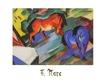 Marc franz rotes und blaues pferd 49191 medium