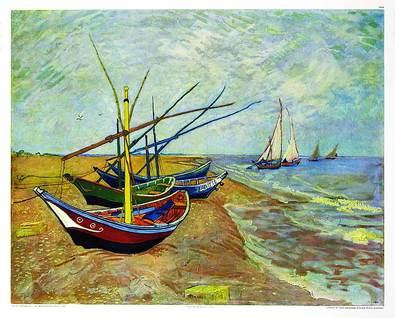 Vincent van Gogh Boote von Stes Maries