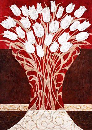 Teresa Agnelli White Tulips II