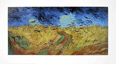 Gogh vincent van kornfeld mit  kraehen large