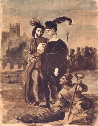 Eugene Delacroix Hamlet und Horatio