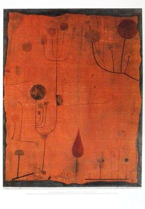 Paul Klee Fruechte auf Rot, 1930