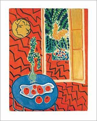 Henri Matisse Interieur rouge nature morte sur table bleue