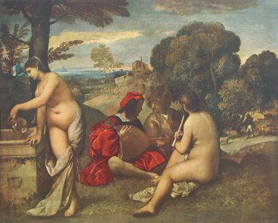 Giorgio Giorgione Laendliches Konzert (Grossformat)