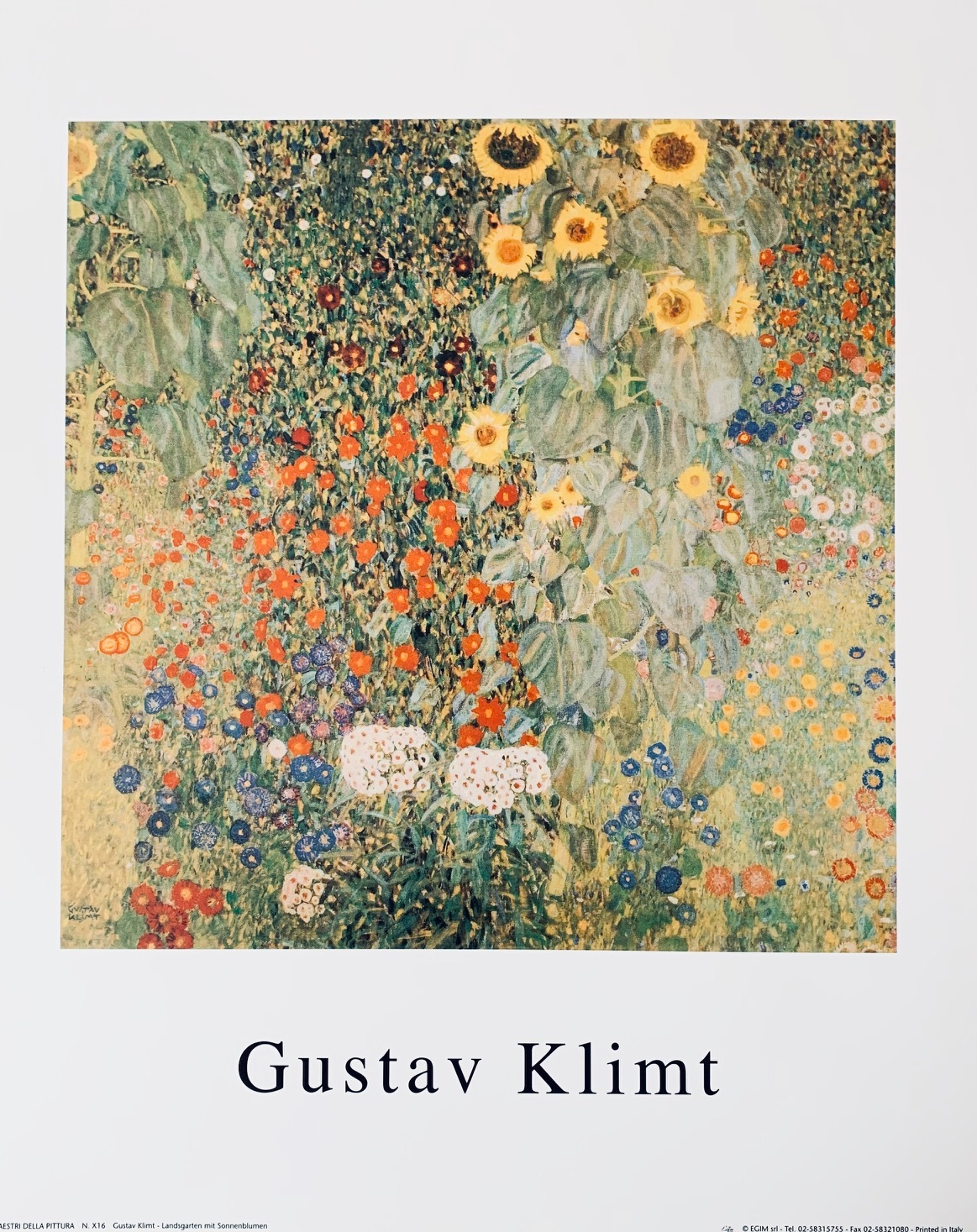 gustav klimt sonnenblumen poster kunstdruck bild 30x24cm ebay. Black Bedroom Furniture Sets. Home Design Ideas