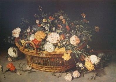 Jan Brueghel Ein Blumenkorb