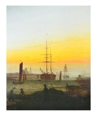 Caspar David Friedrich Der Greifswalder Hafen