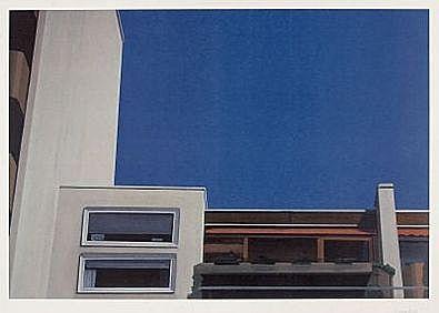 Eberhard Havekost Kabinen blau