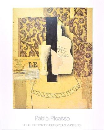Pablo Picasso Nature Morte, Bouteille et Verre