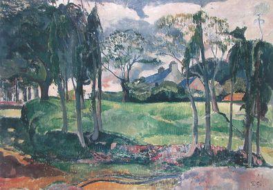 Paul Gauguin Bretonische Landschaft