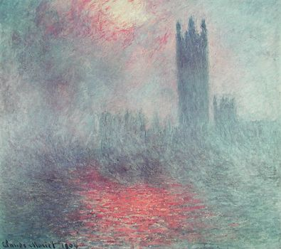 Claude Monet Das Parlament in London