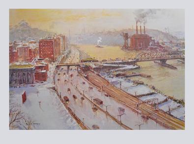 Jack Lorimer Gray Hafen- bzw. Stadtansicht im Winter, 1961