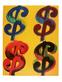 Andy Warhol 4 Dollar orange