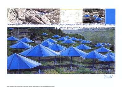 Christo Umbrellas Blue I  (signiert)