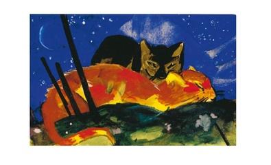 Franz Marc Zwei Katzen