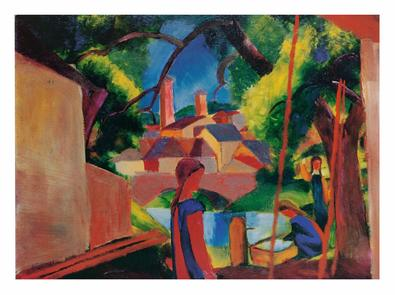 August Macke Kinder am Brunnen