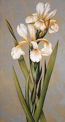 Jill Deveraux 2er Set 'Decorativre Irises I + II'