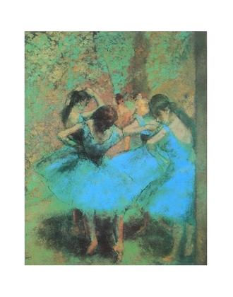 Edgar Degas blaue Ballerinas