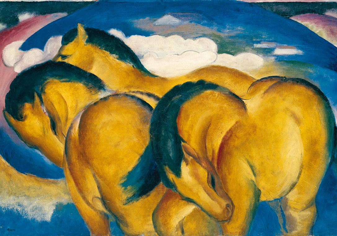 Картинки по запросу franz marc die kleinen gelben pferde