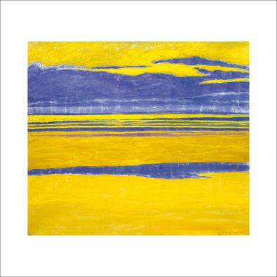 Leon Spilliaert Marine jaune et mauve, 1923