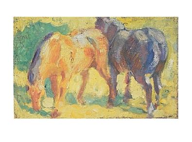 Franz Marc Kleines Pferdebild
