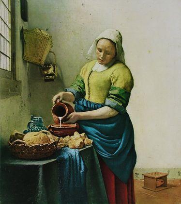 Jan Vermeer Die Kuechenmagd (Das Milchmaedchen)