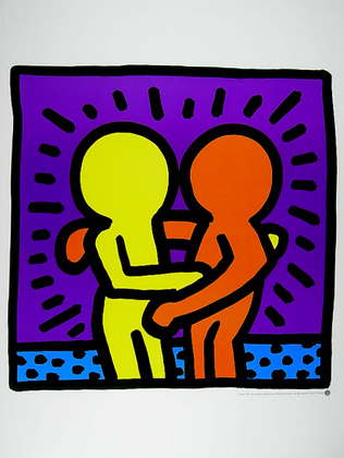 Keith Haring Two Men